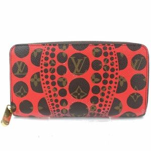 💯 Auth Louis Vuitton Zippy Kusama Dots Wallet